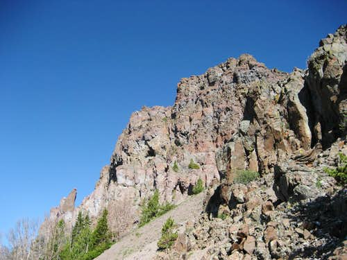 Clayton Mountain cliffs