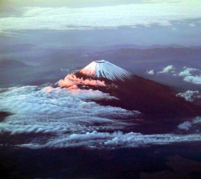 Alpenglow on Mt Fuji...