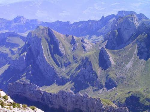 Saentis: View from top.