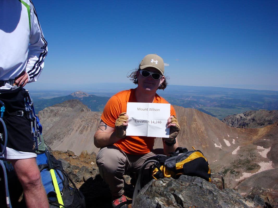 SP Member, 'Bigrob' on the summit!
