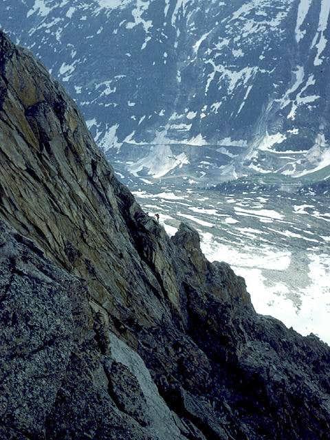 the ridge in profile while...