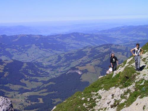 Saentis with lake of Zurich....