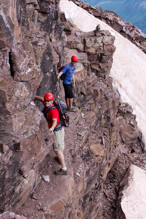 Ledges on Pyramid Peak