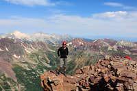 Posing on the top of Pyramid, Colorado