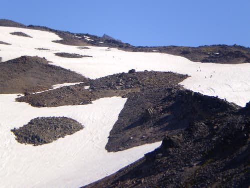 Climbers on the Muir Snowfield