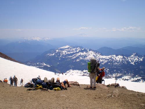 Tanning at Camp Muir