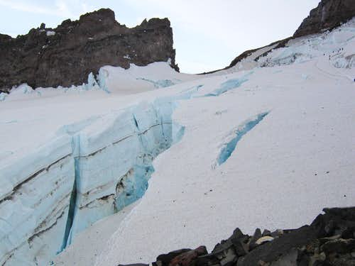 Giant Crevasse on the Ingraham