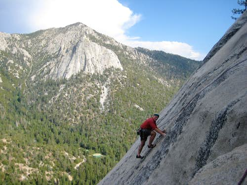 Tony at the top of of Ten Karat Gold with Tahquitz in the background