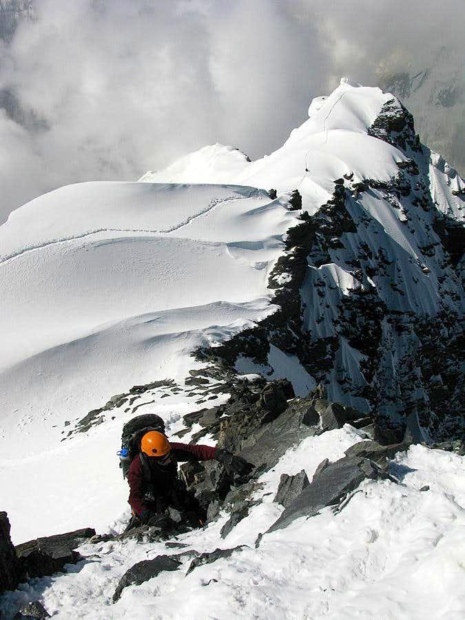 Final meters to summit