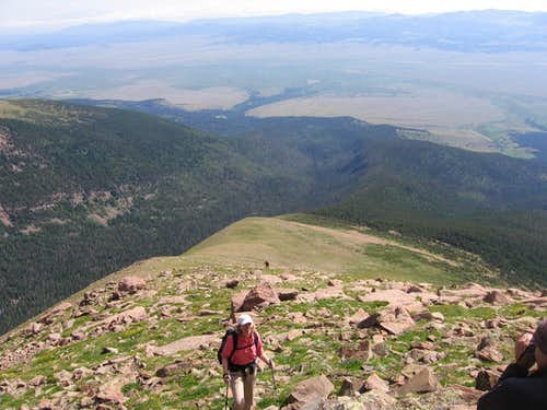 Barb Bailey gains the summit