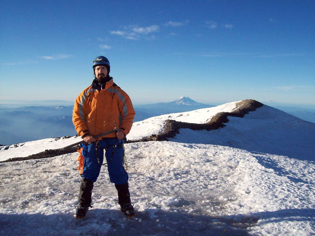 From the summit of Rainier