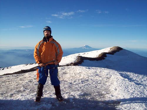 From the summit of Rainier