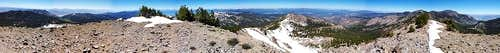 Relay Peak Summit Panorama