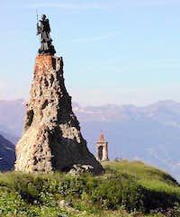 St. Bernard statue...