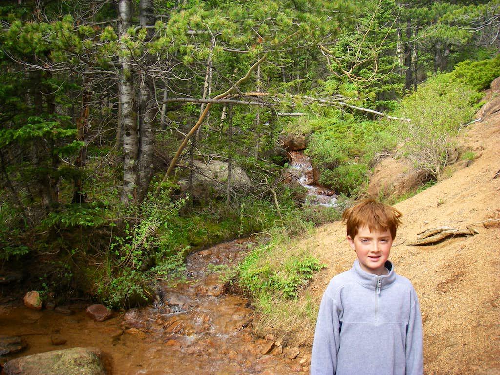 Runs-down-fast Mountain Stream Crossing