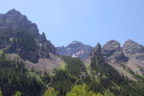 View of Pyramid Peak from Crater Lake trail