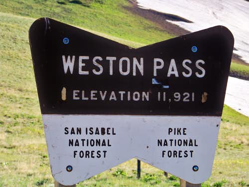 Welcome to Weston Pass