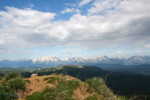 Mount Leidy-- Summit and Tetons View
