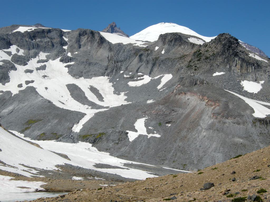 Rainier emerges behind Meany Crest