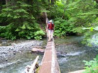 Crossing Comox Creek