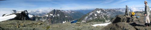 Comox Glacier Summit Panorama
