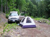 Car Camp at The Frog Ponds Trailhead