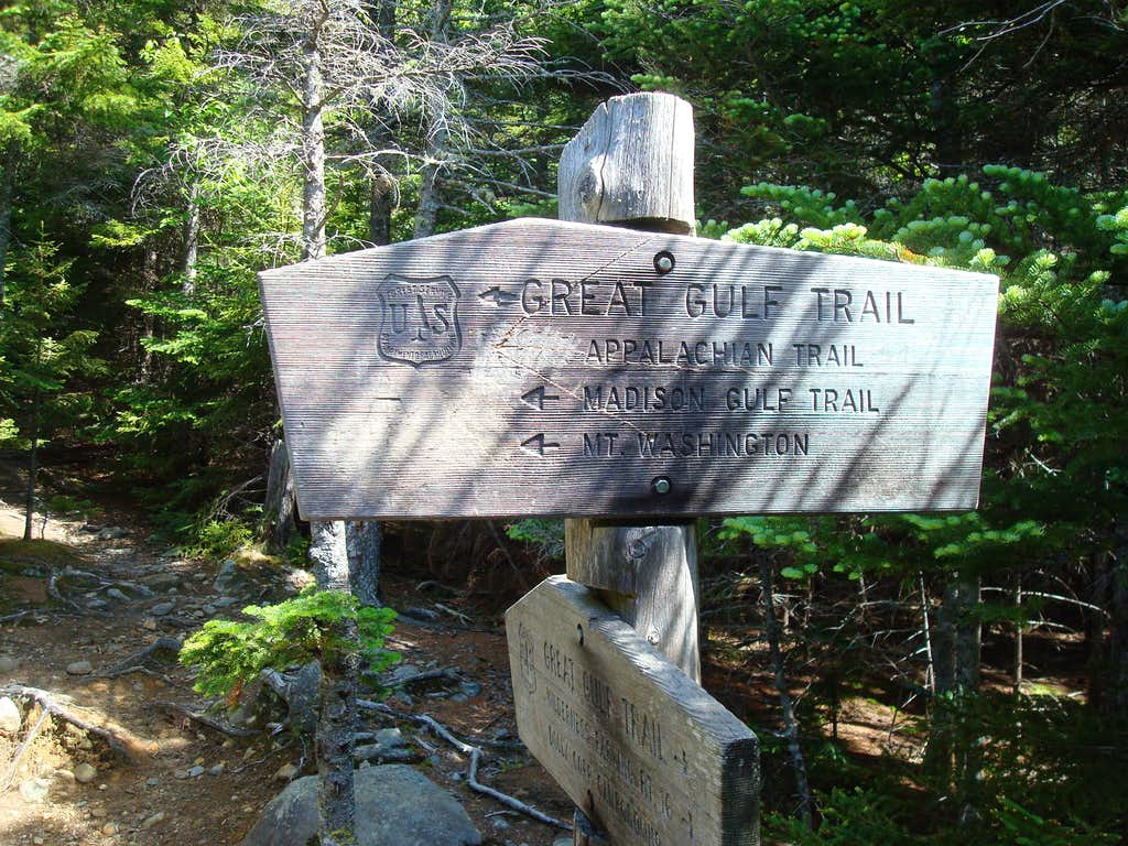 Great Gulf Trail Sign