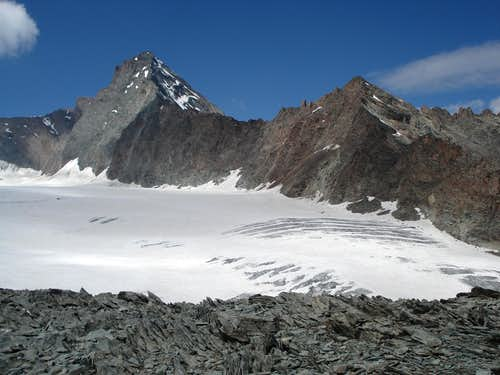 La Grivola and Trajo Glacier