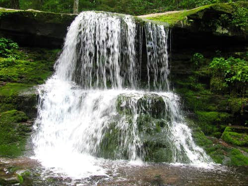 Waterfall on the Trail to Hunter