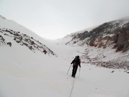 First steps with crampons