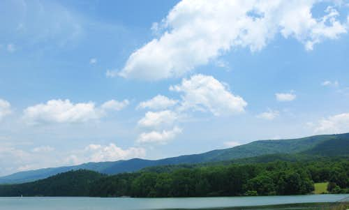Little North Mountain, VA and Lake Merriweather