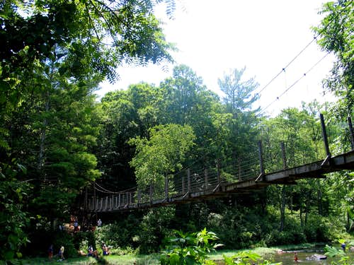 Maury River, VA Swinging Bridge