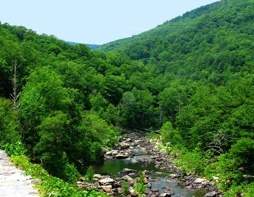 Goshen Pass, VA along the Maury River Gorge