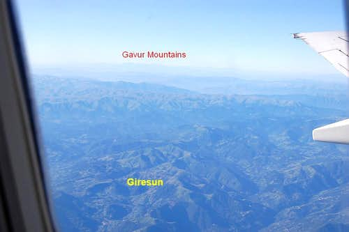 Flying over Giresun