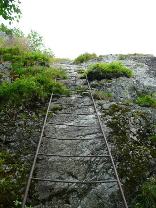 Ladder up Maple Mountain