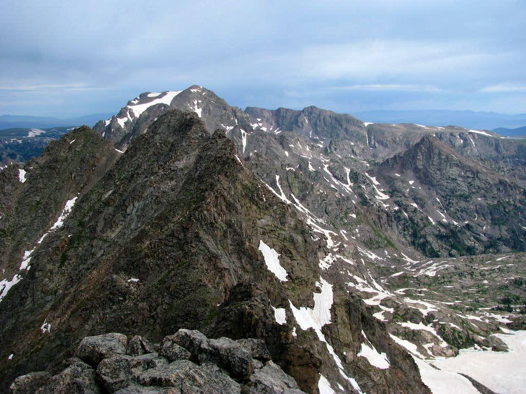 Peak F - Summit view - to the north