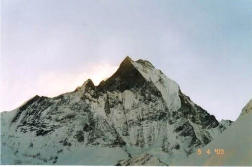 Machhapuchare from ABC. Photo...
