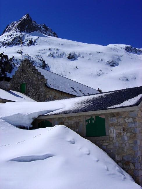 Mountain hut of La Renclusa...