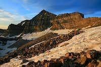 Sunrise on Timp's main summit.