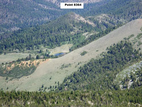 Point 8364 and Church\'s Pond from Mount Rose