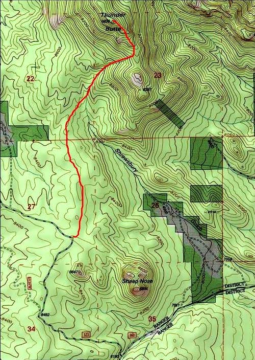 Thunder Butte Route