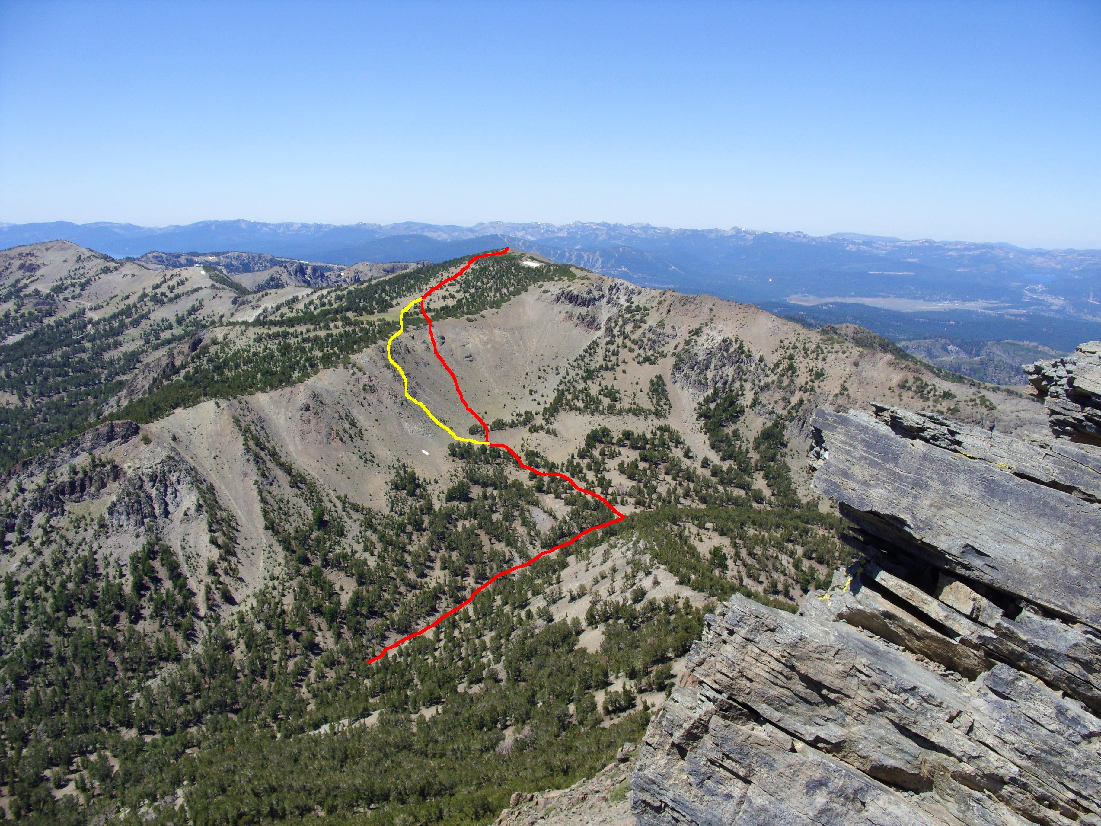 Mount Houghton East Ridge Route