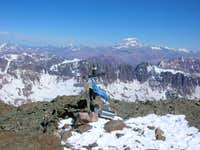 Summit with Aconcagua in the background