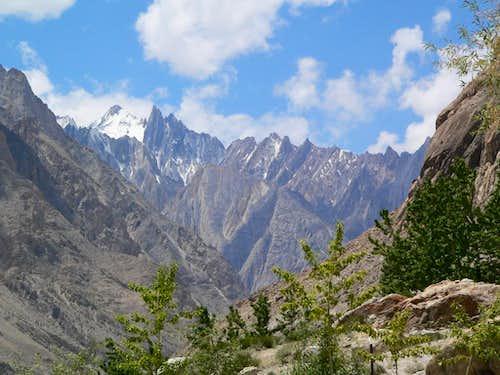 Peaks Seen from Baltoro Glacier