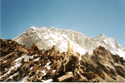 Nuptse and Lhotse from the...