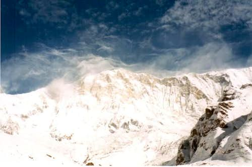 South face of Annapurna as...