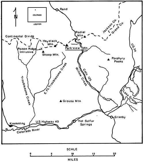 Location map,  Parkview Mountain