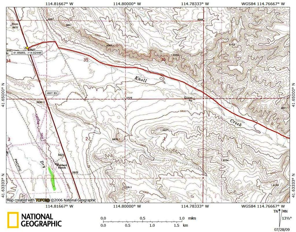 Knoll Mountain access route (1/3)
