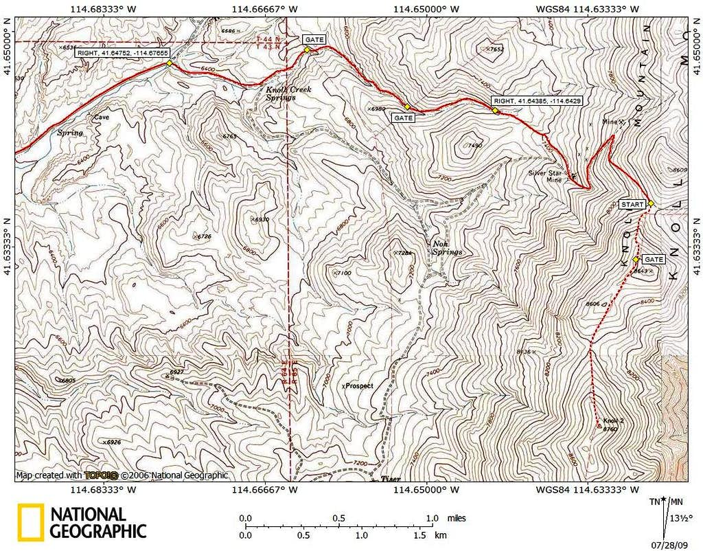 Knoll Mountain access route (3/3)