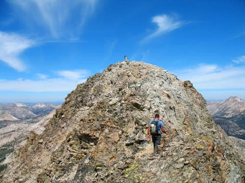 Just about to the summit